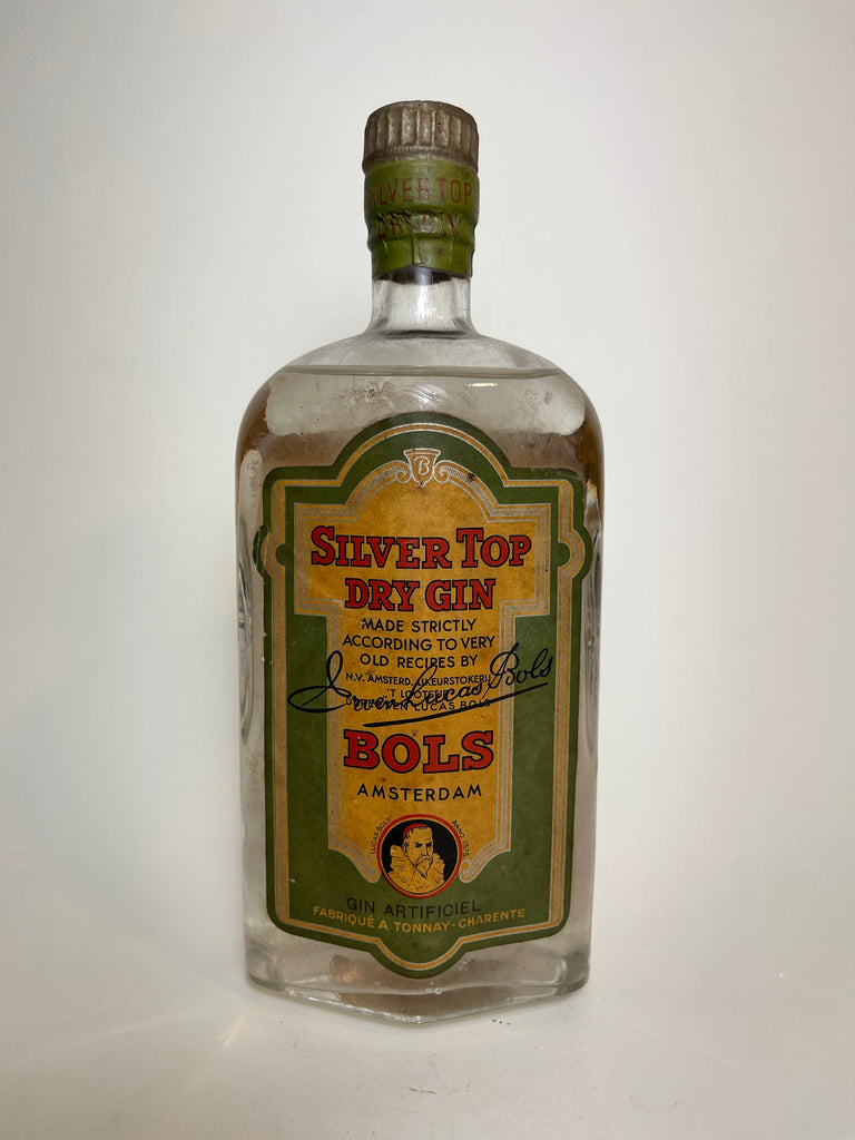 Bols Silver Top Dry Gin - Dated 1921 (ABV Not Stated, 75cl)
