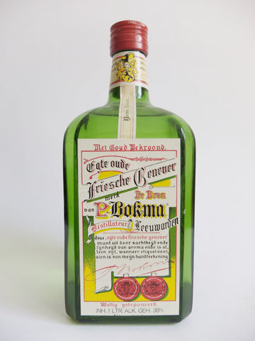P. Bokma Oude Friesche Genever - 1970s	(38%, 100cl)