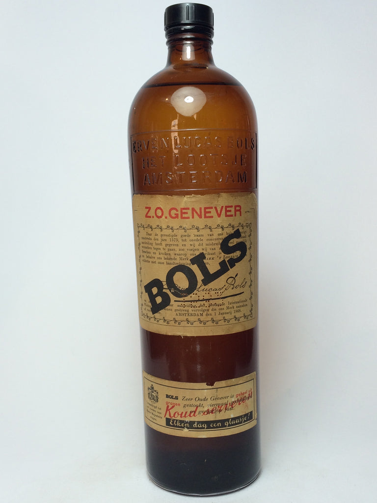 Bols Z.O. Genever - 1960s (Unknown ABV, 100cl)