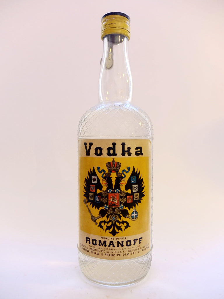 Romanoff Vodka - 1950s (43%, 75cl)