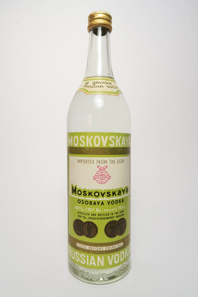 Moskovskaya Russian Vodka - 1970s (40%, 75cl)