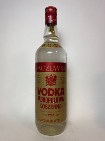 Polmos Baczewski Kosher Vodka - Bottled 1995, (40%, 75cl)