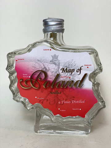 Bartex-Bartol Map of Poland Polish Vodka - Bottled 2009, (40%, 50cl)