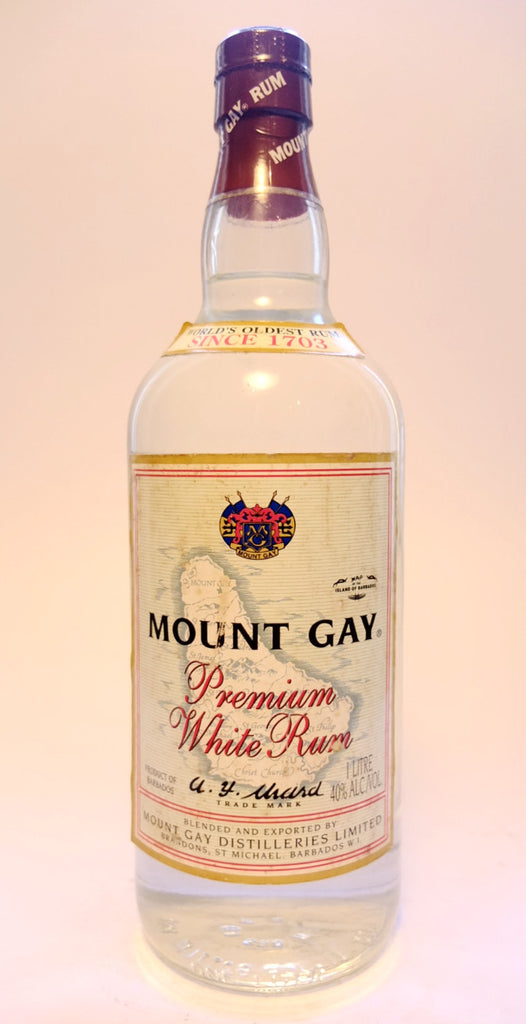 Mount Gay Premium White Barbados Rum - 1990s (40%, 100cl)