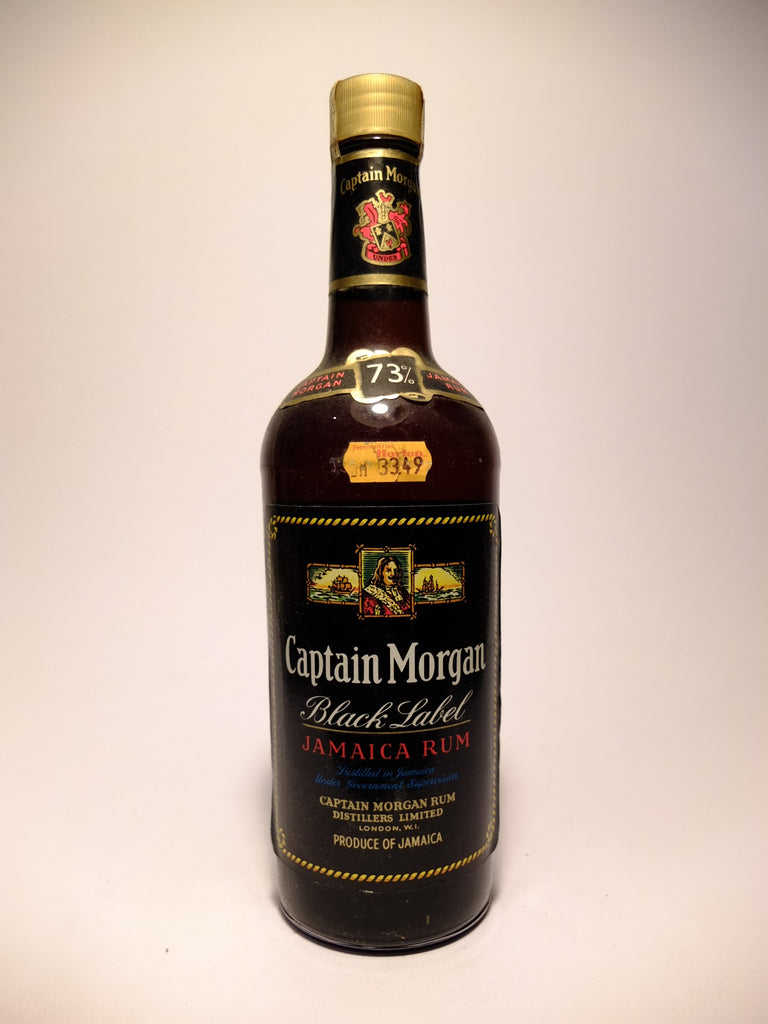 Captain Morgan Black Label Jamaica Rum - 1970s (73%, 70cl)