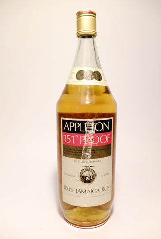 Appleton 151° Proof 100% Jamaica Rum - 1970s (75.5%, 114cl)
