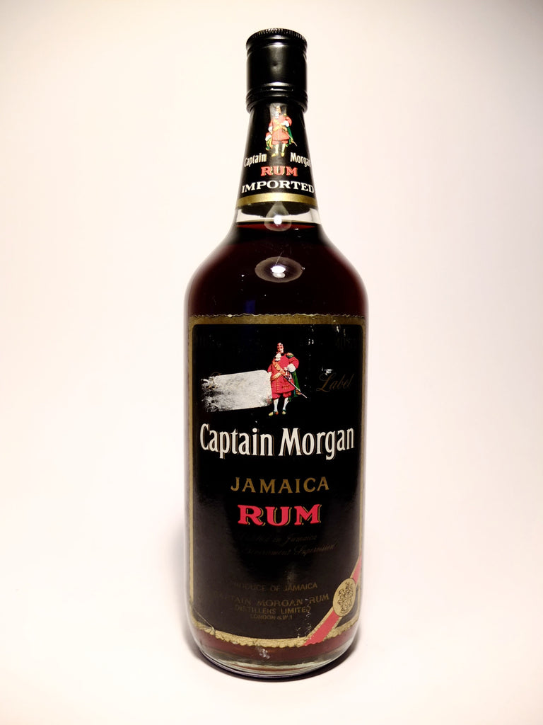 Captain Morgan Black Label Jamaica Rum - 1970s (40%, 100cl)