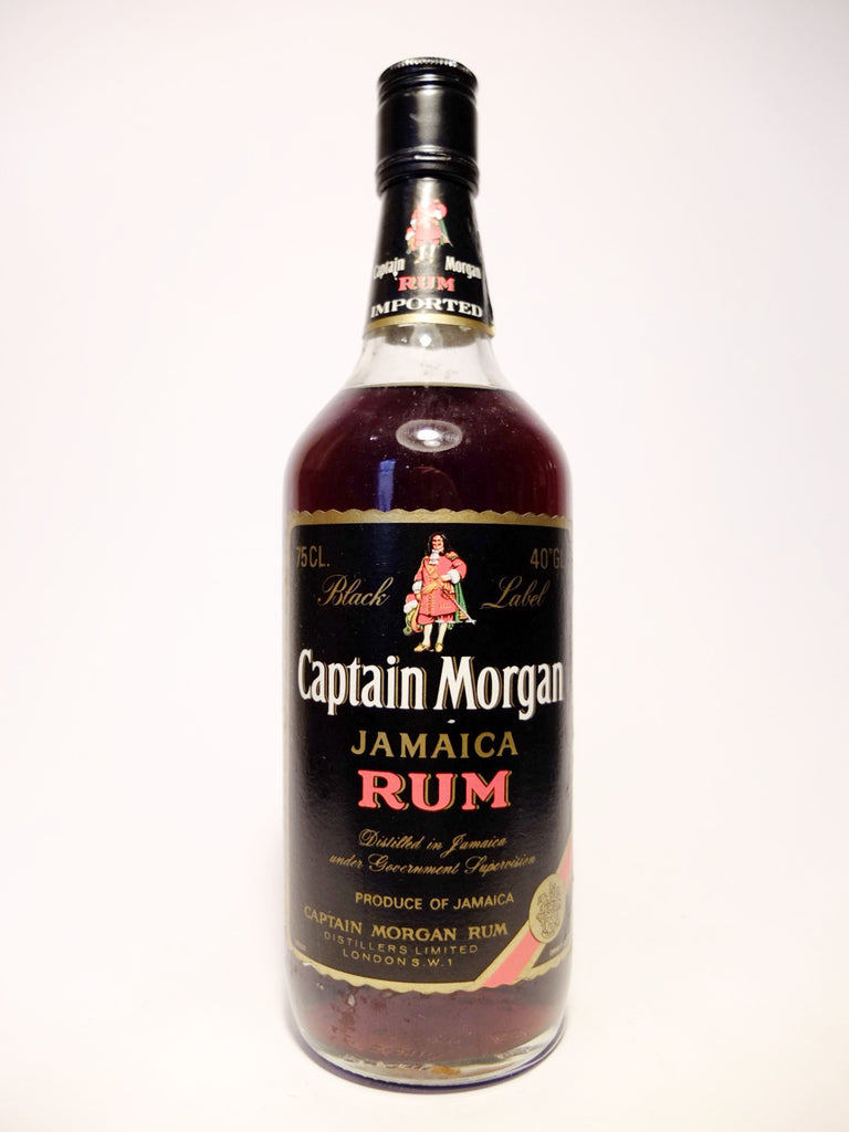 Captain Morgan Black Label Jamaica Rum - 1970s (40%, 75cl)