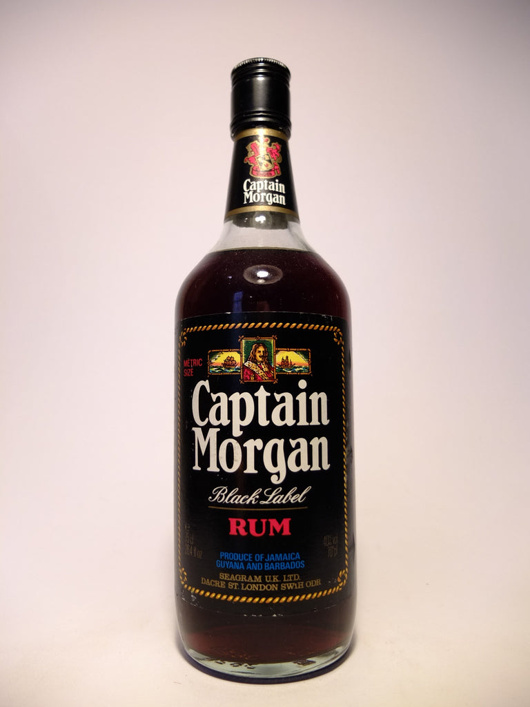 Captain Morgan Black Label Rum - 1970s  (40%, 75cl)