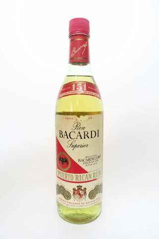 Bacardi 151 Ron Superior Puerto Rican Rum - 1980s (75.5%, 75cl)
