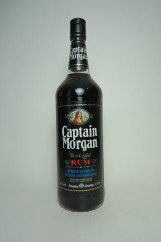 Seagram's Captain Morgan Black Label Jamaica Rum - 1980s (43%, 100cl)
