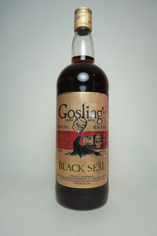 Gosling's 151 Black Seal Bermuda Black Rum - 1990s (75.5%, 100cl)