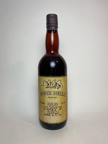 Challis Stern & Co. Four Bells Finest Old Guyana Navy Rum - 1930s (40%, 75cl)
