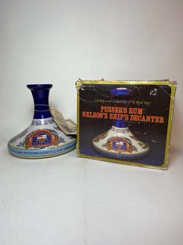 Pusser's British Navy Rum Admiral Lord Nelson Ship's Decanter - 1980s (54.5%, 100cl)