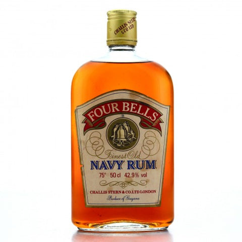 Challis Stern Four Bells Finest Old Guyana Navy Rum - 1970s (42.9%, 50cl)