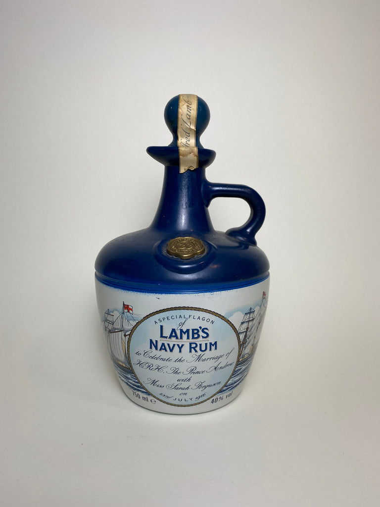 Lamb's Navy Rum - HRH Prince Andrew & Sarah Ferguson Marriage Commemorative Flagon - 1986 (40%, 75cl)