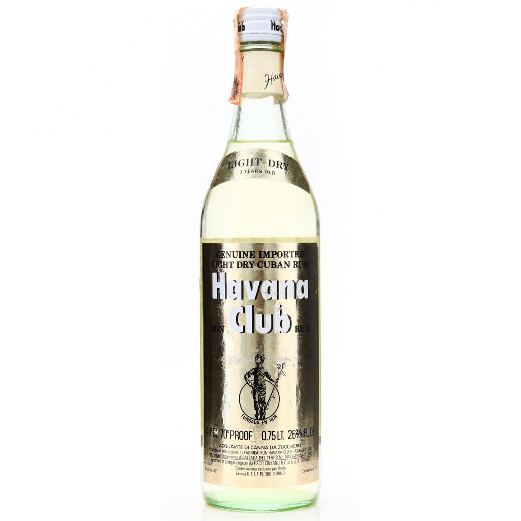 Havana Club Light Dry 3YO Cuban Rum - 1970s (40%, 75cl)