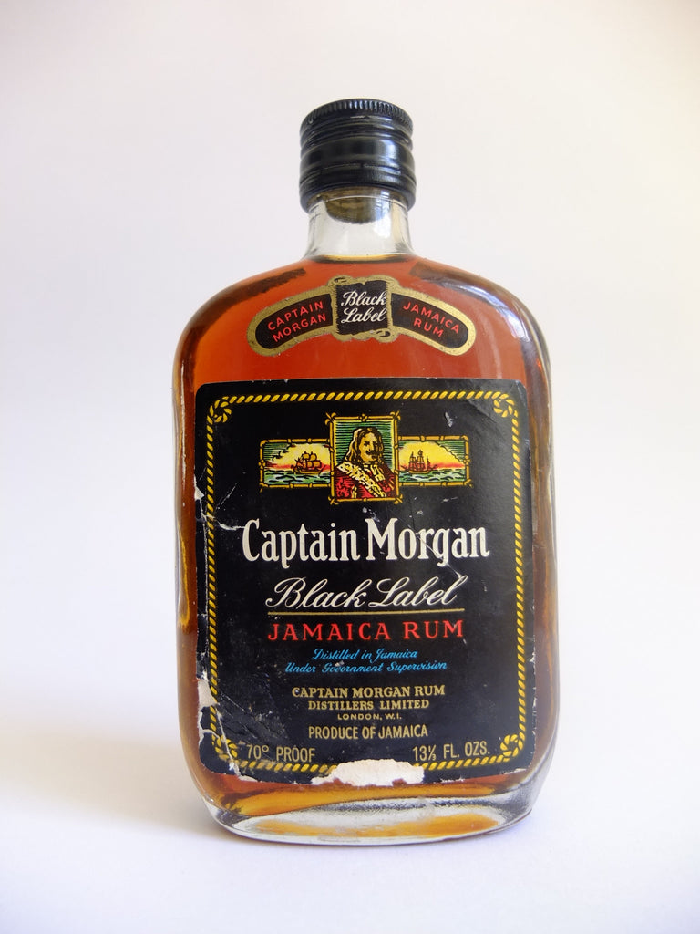 Captain Morgan Black Label Jamaica Rum - 1970s (40%, 37.5cl)