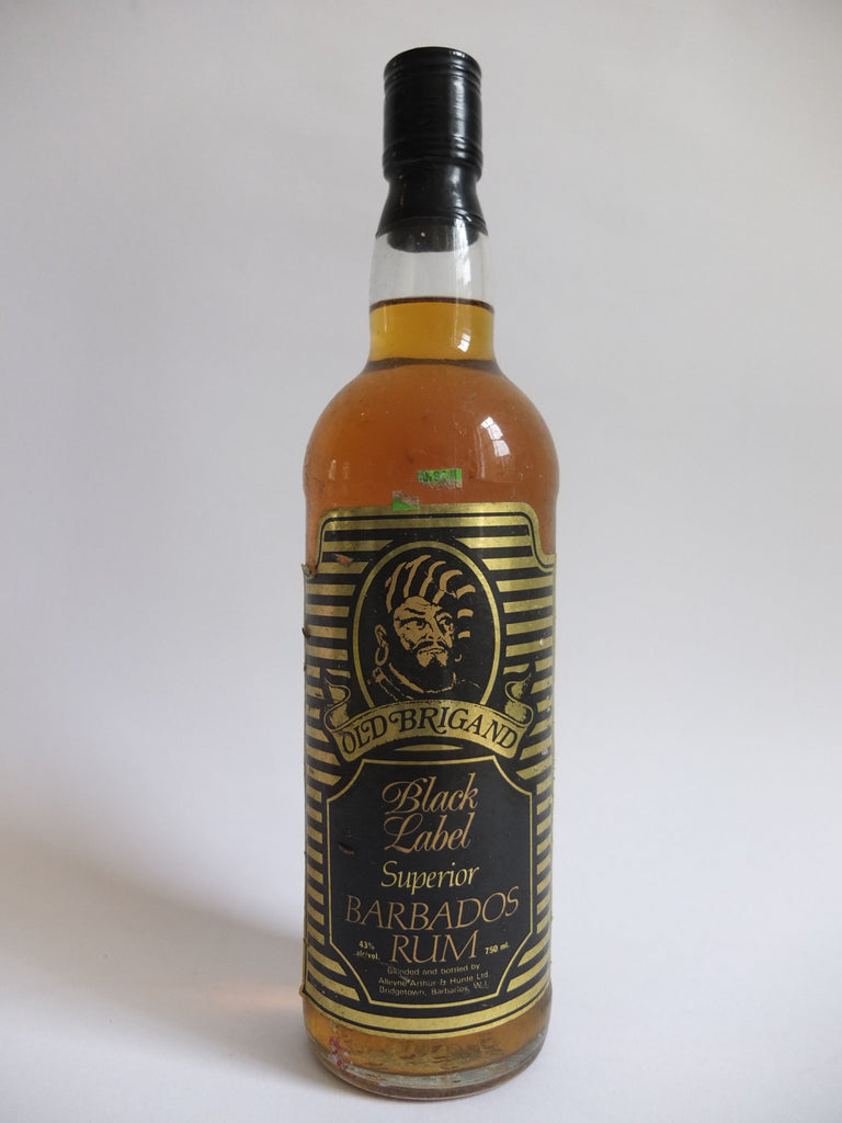 Old Brigand Black Label Superior Barbados Rum - 1980s (43%, 75cl)