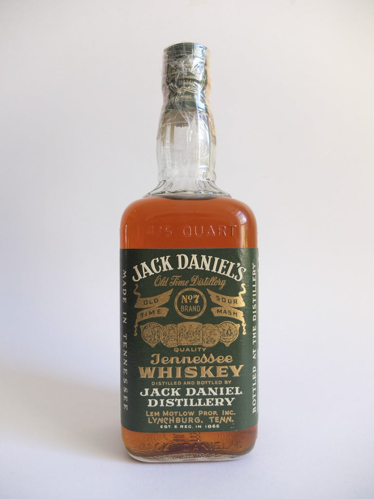Jack Daniel's Green Label Tennessee Whiskey - Bottled 1970 (45%, 75.7cl)