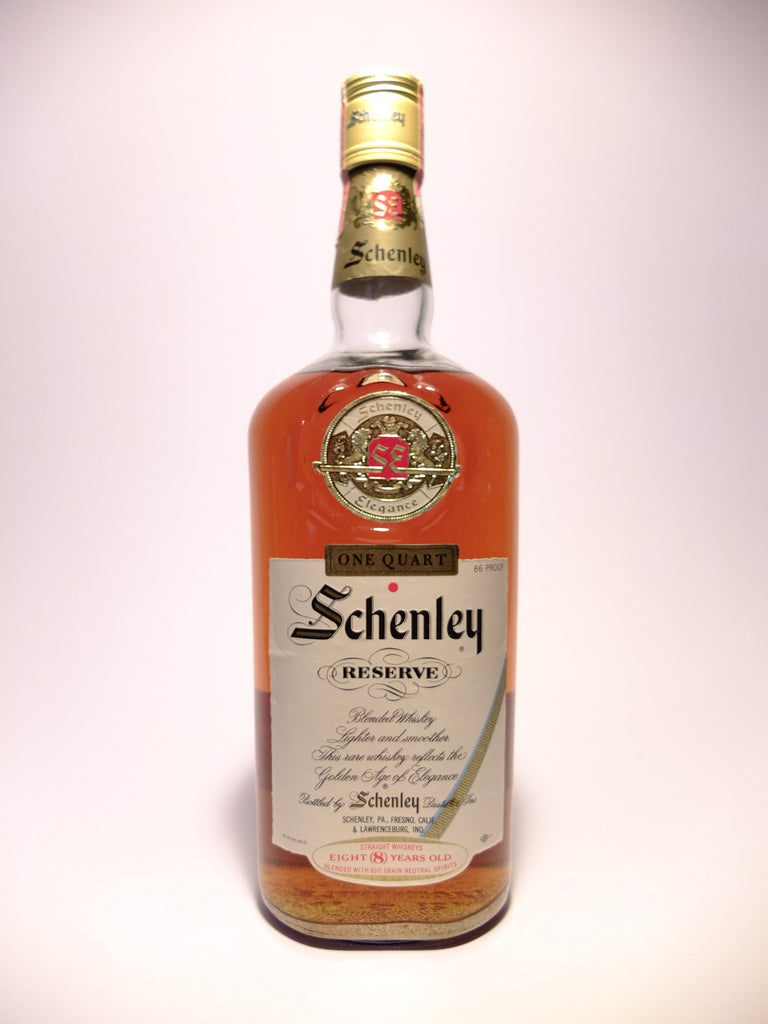 Schenley Reserve, 8YO Blended American Whiskey - 1960s (43%, 94.6cl)