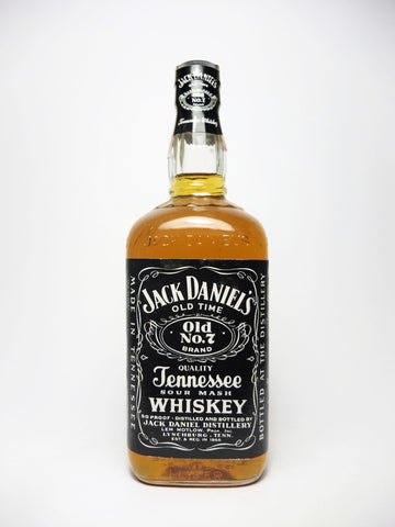 Jack Daniel's Tennessee Sour Mash Whiskey - Bottled 1981 (45%, 100cl)