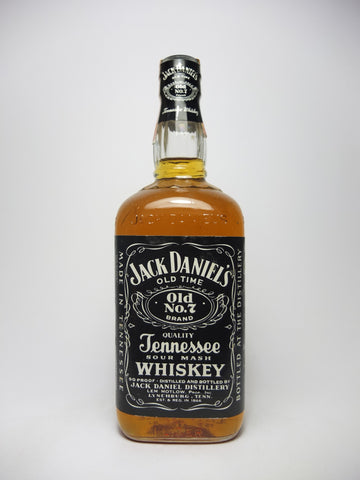 Jack Daniel's Tennessee Sour Mash Whiskey, - Bottled 1981 (45%, 100cl)