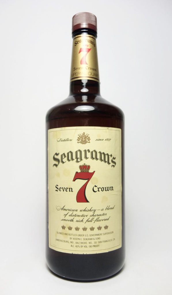Segram's 7 Crown Blended American Whiskey - 1970s (40%, 113.4cl)