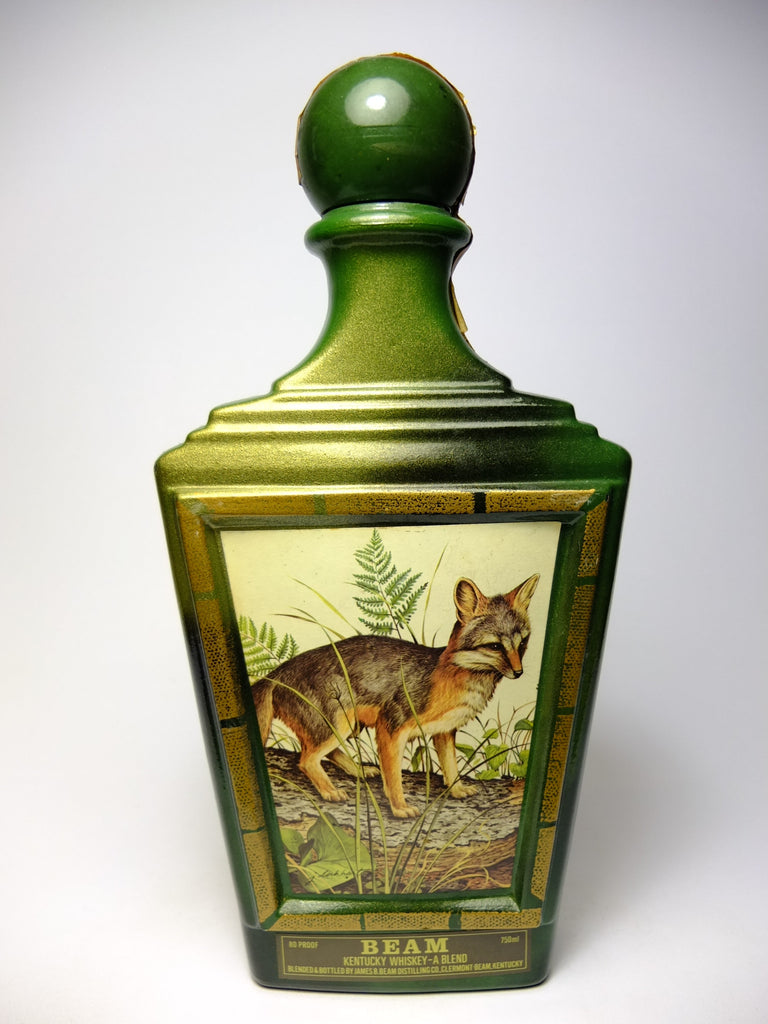 Jim Beam Kentucky Blended Whiskey in James Lockhart Gray Fox Decanter - Bottled 1982 (40%, 75cl)