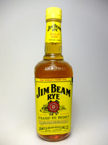 Jim Beam 4YO Rye Whiskey - Distilled 1995 / Bottled 1999 (40%, 75cl)
