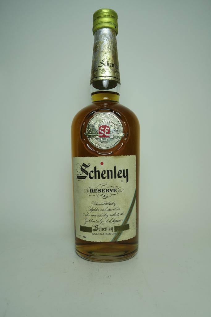 Schenley Reserve Blended American Whiskey - 1960s (ABV Not Stated, 75cl)