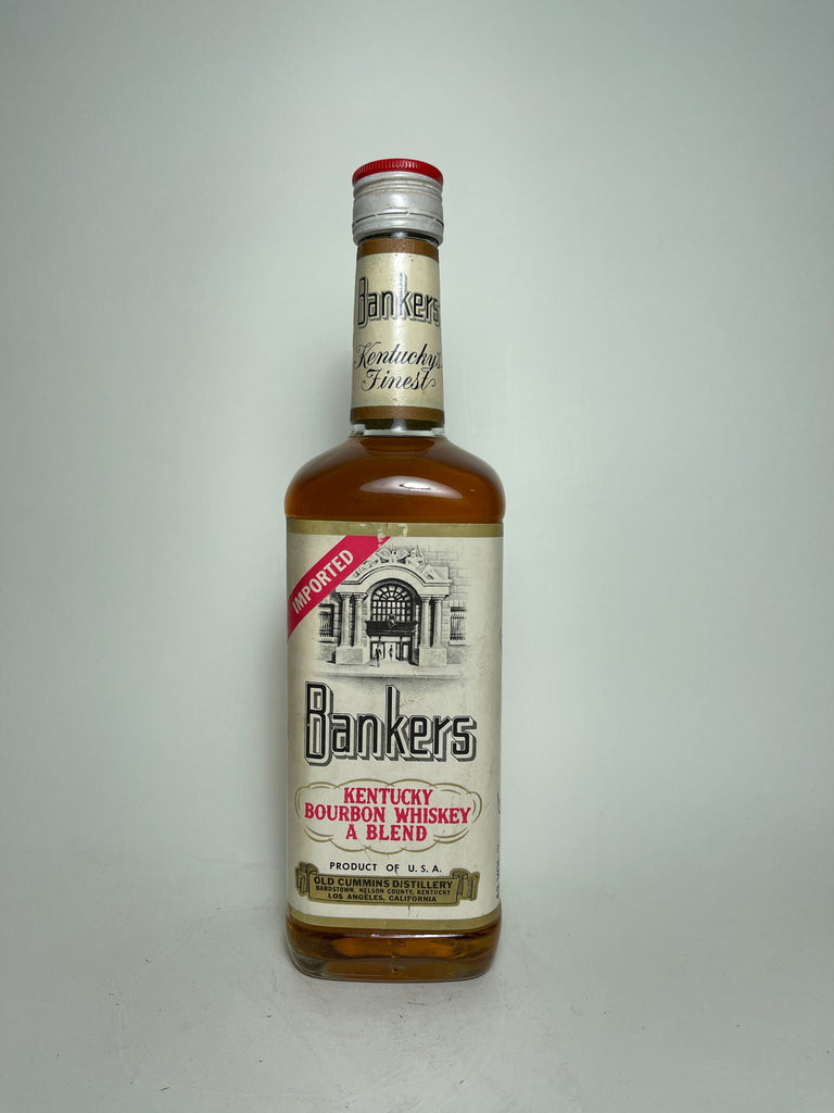 Old Cummins Bankers Kentucky Blended Bourbon Whiskey - 1970s (43%, 70cl)