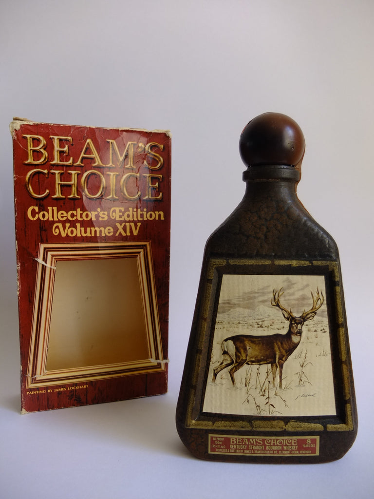 Jim Beam Beam's Choice Collector's Edition Volume XIV 'Mule Deer' by James Lockhart 8YO Kentucky Straight Bourbon Whiskey - Distilled 1968/Bottled 1976 (40%, 75cl)
