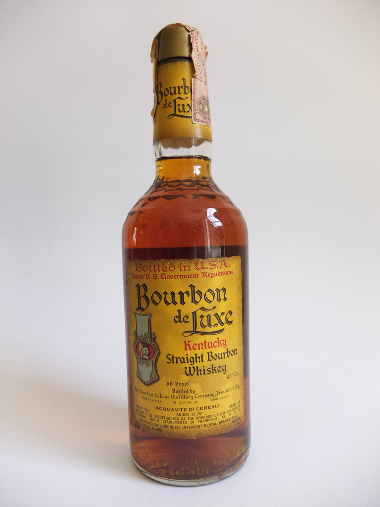 Bourbon de Luxe Kentucky Straight Bourbon Whiskey - 1970s (43%, 75.7cl)