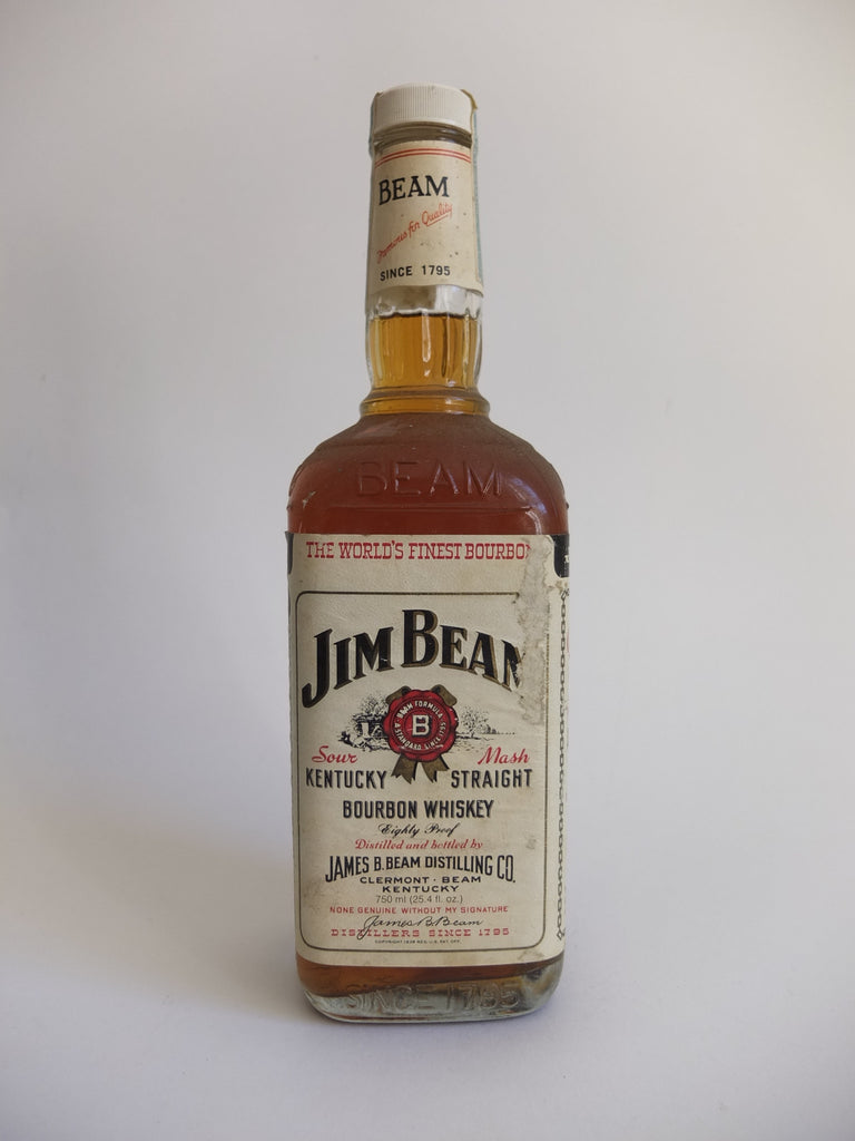 Jim Beam 4YO White Label Kentucky Straight Bourbon Whiskey - Bottled 1979 (40%, 75cl)
