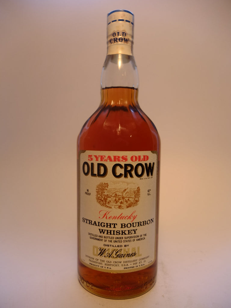 Old Crow 5YO Kentucky Straight Bourbon Whiskey - Distilled 1967, Bottled 1972 (43%, 113.6cl)