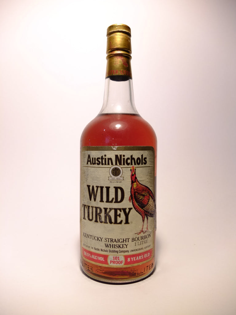 Austin Nichols Wild Turkey 8YO Kentucky Bourbon, Lawrenceburg - Distilled 1982, Bottled 1990 (50.5%, 100cl)