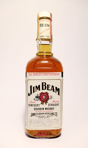 Jim Beam 4Y0 White Label Kentucky Straight Bourbon Whisky - 1979 (40%, 75cl)