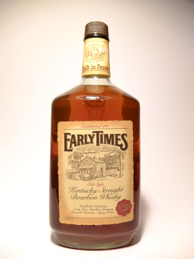 Early Times 3YO Old Style Kentucky Straight Bourbon Whiskey - Bottled 1984 (40%,1.75cl)