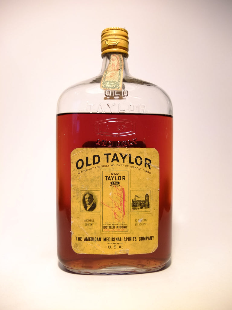 Old Taylor (Bottled in Bond) Straight Kentucky Whiskey - Distilled Spring 1917 (50%, 94.6cl)