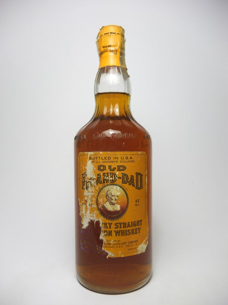 Old Grand-Dad Kentucky Straight Bourbon Whiskey - Bottled 1960 (43%,	94.6cl)