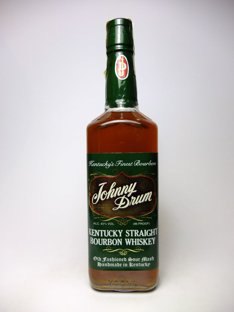 Johnny Drum 4YO Kentucky Straight Bourbon Whiskey - Distilled 1986 / Bottled 1990 (43%, 70cl)
