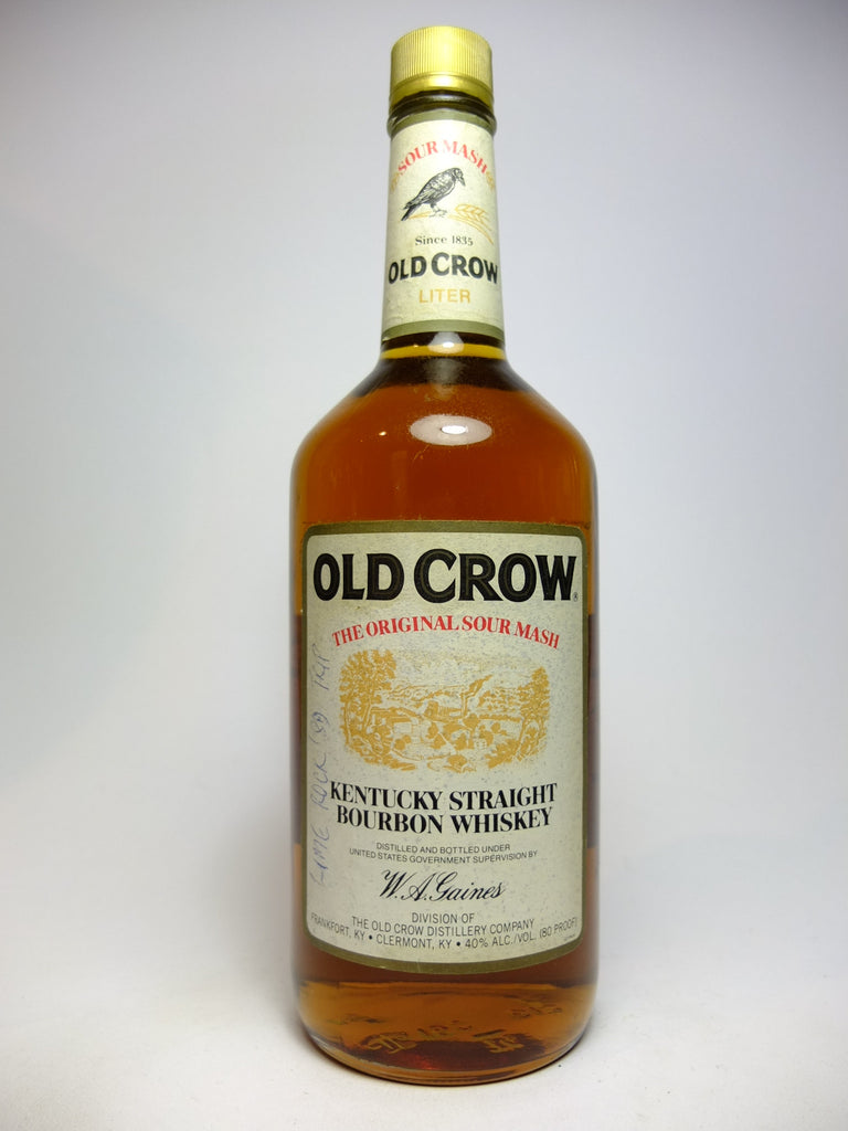 Old Crow 4YO Kentucky Straight Bourbon Whiskey - Distilled 1985, Bottled 1989 (40%,100cl)