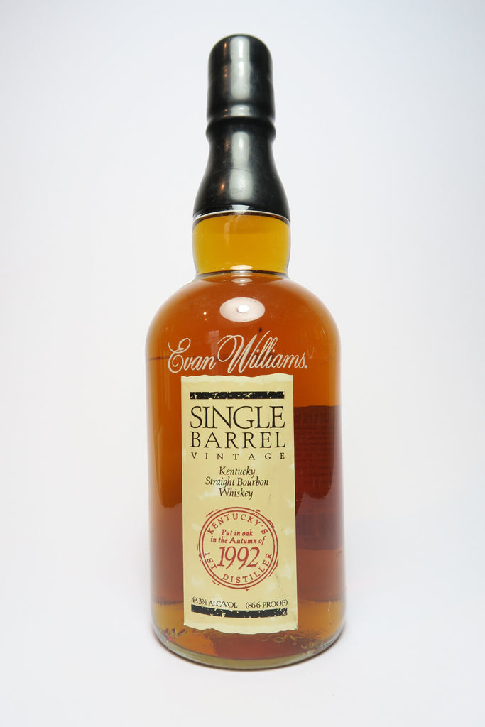 Evan Williams Single Barrel Vintage Kentucky Straight Bourbon Whiskey - Distilled 1992 (43.3%, 75cl)
