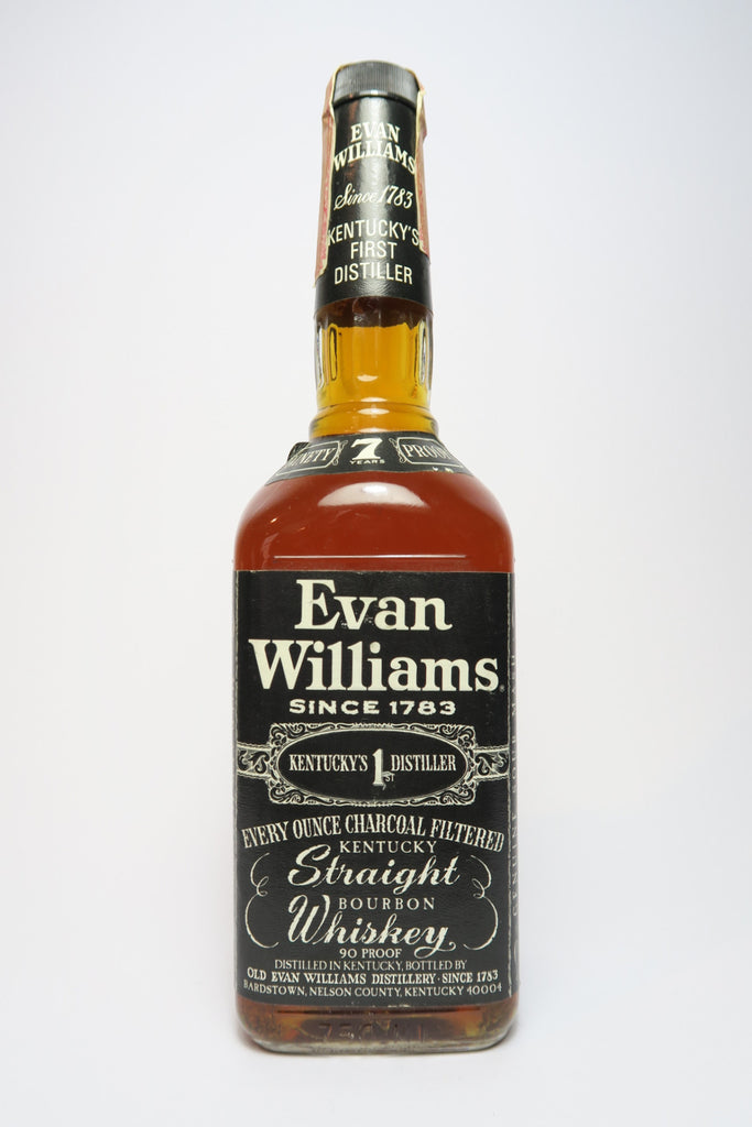 Evan Williams Kentucky Straight Bourbon Whiskey - Distilled 1974, Bottled 1981 (45%, 75cl)