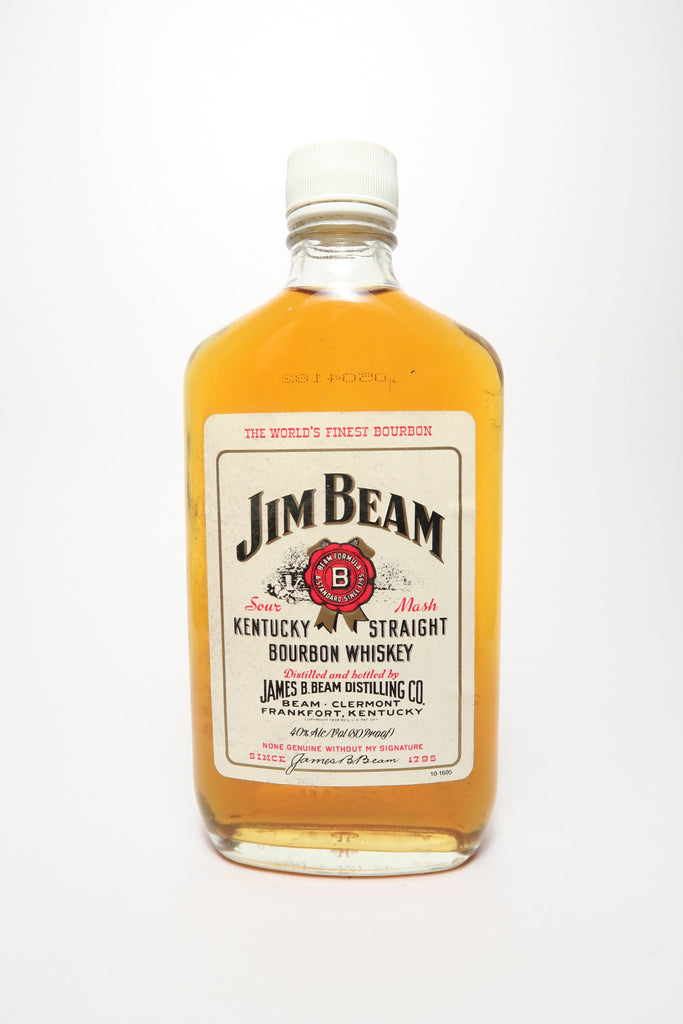 Jim Beam 4YO White Label Kentucky Straight Bourbon Whiskey - Distilled 1980 / Bottled 1984 (40%, 37.5cl)