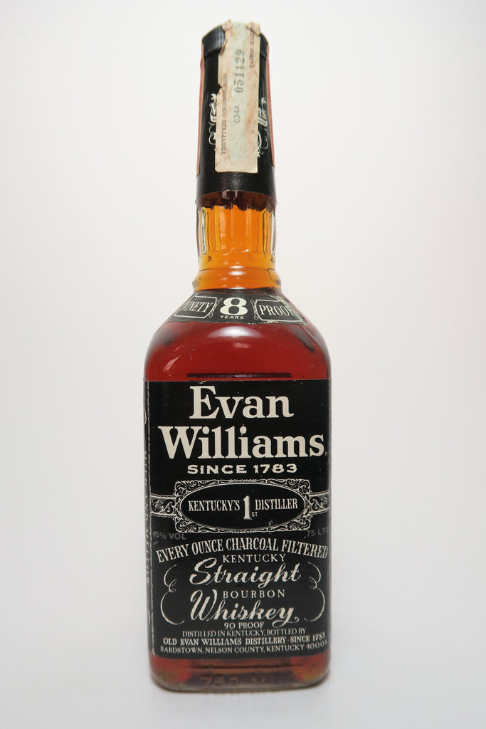 Evan Williams 8YO Kentucky Straight Bourbon Whiskey - Distilled 1980 / Bottled 1988 (45%, 75cl)