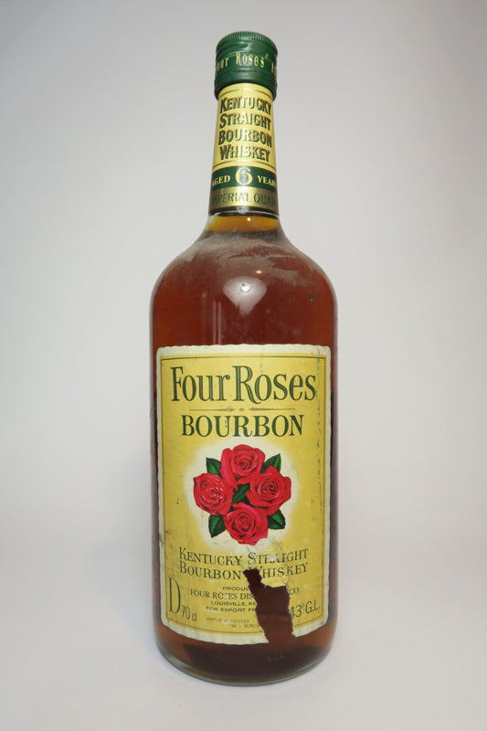 Four Roses 6YO Kentucky Straight Bourbon Whiskey - Late 1960s / Early 1970s (43%, 114cl)