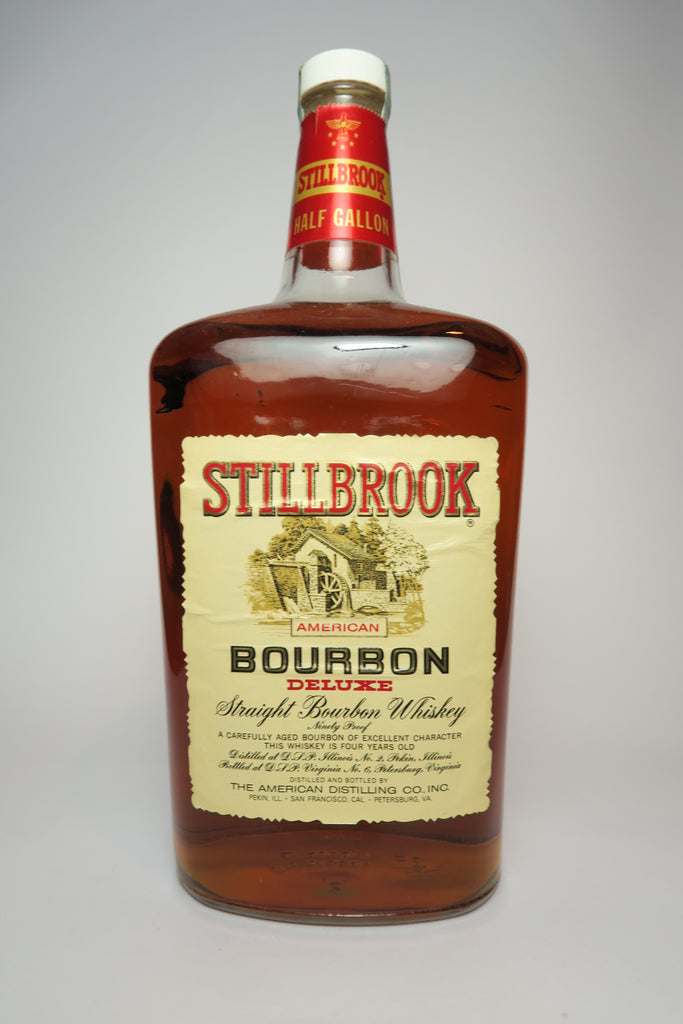 Stillbrook 4YO American Straight Bourbon Whiskey - Distilled 1969 / Bottled 1973 (45%, 190cl)