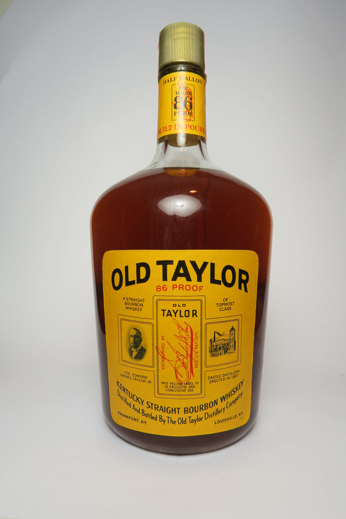 Old Taylor 4YO Kentucky Straight Bourbon Whiskey - Distilled 1970 / Bottled 1974 (43%, 189cl)